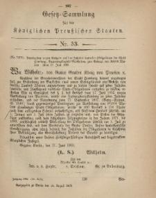 Gesetz-Sammlung für die Königlichen Preussischen Staaten, 18. August, 1869, nr. 53.