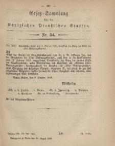 Gesetz-Sammlung für die Königlichen Preussischen Staaten, 30. August, 1869, nr. 54.