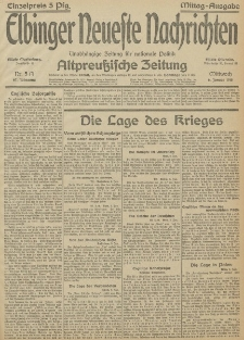 Nr. 5 Mittwoch 6 Januar 1915 67. Jahrgang