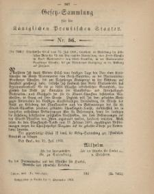 Gesetz-Sammlung für die Königlichen Preussischen Staaten, 9. September, 1869, nr. 56.
