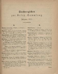 Gesetz-Sammlung für die Königlichen Preussischen Staaten (Sachregister), 1869