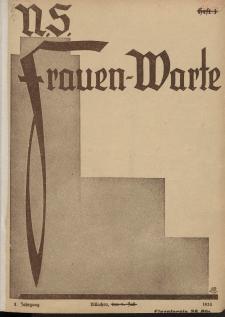 N.S. Frauen-Warte : Zeitschrift der N. S. Frauenschaft, 2.Jahrgang 1933, 1. Juli, H. 1