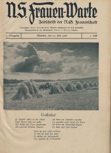 N.S. Frauen-Warte : Zeitschrift der N. S. Frauenschaft, 2.Jahrgang 1933, 15 Juli 1933, H. 2