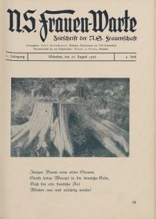 N.S. Frauen-Warte : Zeitschrift der N. S. Frauenschaft, 2.Jahrgang 1933, 15. August, H. 4