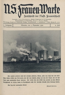 N.S. Frauen-Warte : Zeitschrift der N. S. Frauenschaft, 2.Jahrgang 1933, 1. September, H. 5