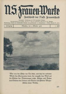 N.S. Frauen-Warte : Zeitschrift der N. S. Frauenschaft, 2.Jahrgang 1933, 1. Oktober, H. 7