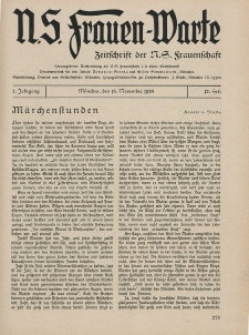 N.S. Frauen-Warte : Zeitschrift der N. S. Frauenschaft, 2.Jahrgang 1933, 15. November, H. 10