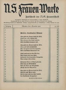 N.S. Frauen-Warte : Zeitschrift der N. S. Frauenschaft, 2.Jahrgang 1933, 1. Dezember, H. 11