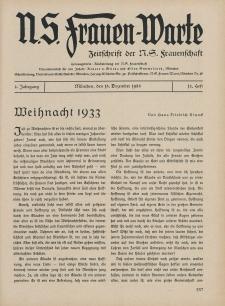 N.S. Frauen-Warte : Zeitschrift der N. S. Frauenschaft, 2.Jahrgang 1933, 15. Dezember, H. 12