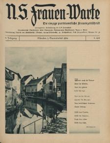 N.S. Frauen-Warte : Zeitschrift der N. S. Frauenschaft, 3.Jahrgang 1934, 1. September, H. 6