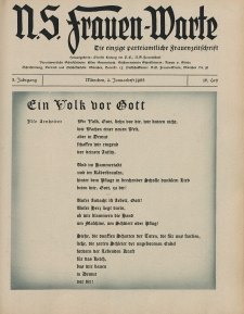 N.S. Frauen-Warte : Zeitschrift der N. S. Frauenschaft, 3.Jahrgang 1935, 2. Januar, H. 16