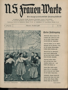 N.S. Frauen-Warte : Zeitschrift der N. S. Frauenschaft, 3.Jahrgang 1935, 1. April, H. 21