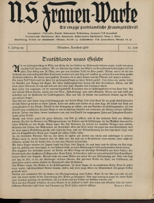 N.S. Frauen-Warte : Zeitschrift der N. S. Frauenschaft, 3.Jahrgang 1935, 2. April, H. 22