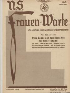 N.S. Frauen-Warte : Zeitschrift der N. S. Frauenschaft, 4.Jahrgang 1935, 1. Juli, H. 1