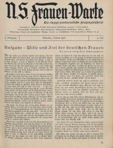 N.S. Frauen-Warte : Zeitschrift der N. S. Frauenschaft, 4.Jahrgang 1935, 2. Juli, H. 2