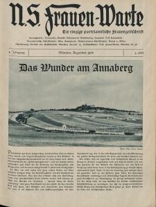 N.S. Frauen-Warte : Zeitschrift der N. S. Frauenschaft, 4.Jahrgang 1935, 1. August, H. 3