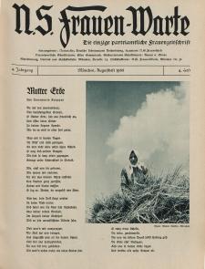 N.S. Frauen-Warte : Zeitschrift der N. S. Frauenschaft, 4.Jahrgang 1935, 2. August, H. 4