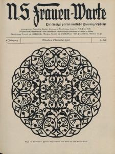 N.S. Frauen-Warte : Zeitschrift der N. S. Frauenschaft, 4.Jahrgang 1935, 2. Oktober, H. 9