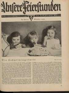 N.S. Frauen-Warte : Zeitschrift der N. S. Frauenschaft (Unsere Feierstunden)