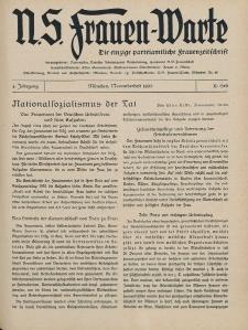 N.S. Frauen-Warte : Zeitschrift der N. S. Frauenschaft, 4.Jahrgang 1935, 2. November, H. 11