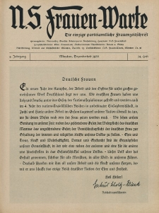 N.S. Frauen-Warte : Zeitschrift der N. S. Frauenschaft, 4.Jahrgang 1935, 2. Dezember, H. 14
