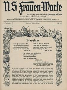 N.S. Frauen-Warte : Zeitschrift der N. S. Frauenschaft, 4.Jahrgang 1936, 1. März, H. 19