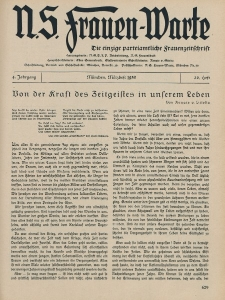 N.S. Frauen-Warte : Zeitschrift der N. S. Frauenschaft, 4.Jahrgang 1936, 2. März, H. 20