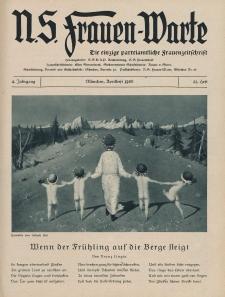 N.S. Frauen-Warte : Zeitschrift der N. S. Frauenschaft, 4.Jahrgang 1936, 1. April, H. 21