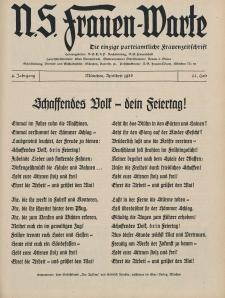 N.S. Frauen-Warte : Zeitschrift der N. S. Frauenschaft, 4.Jahrgang 1936, 2. April, H. 22