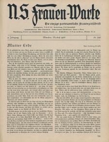 N.S. Frauen-Warte : Zeitschrift der N. S. Frauenschaft, 4.Jahrgang 1936, 1. Mai, H. 23
