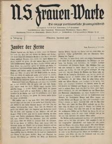 N.S. Frauen-Warte : Zeitschrift der N. S. Frauenschaft, 5.Jahrgang, 2. Juni 1936, H. 1