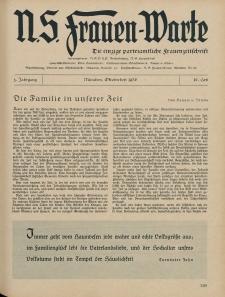 N.S. Frauen-Warte : Zeitschrift der N. S. Frauenschaft, 5.Jahrgang, 3. Oktober 1936, H. 10