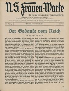N.S. Frauen-Warte : Zeitschrift der N. S. Frauenschaft, 5.Jahrgang, 1. November 1936, H. 11