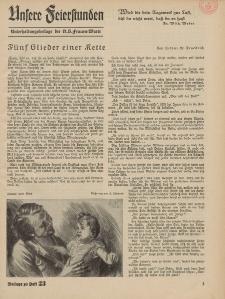 N.S. Frauen-Warte : Zeitschrift der N. S. Frauenschaft (Unsere Feierstunden : Beilage zu Heft 23)