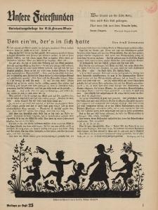 N.S. Frauen-Warte : Zeitschrift der N. S. Frauenschaft (Unsere Feierstunden : Beilage zu Heft 25)