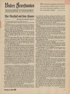 N.S. Frauen-Warte : Zeitschrift der N. S. Frauenschaft (Unsere Feierstunden : Beilage zu Heft 26)