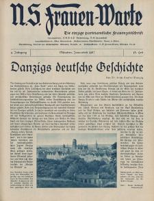 N.S. Frauen-Warte : Zeitschrift der N. S. Frauenschaft, 5.Jahrgang, 1. Januar 1937, H. 15