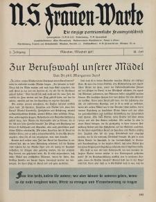 N.S. Frauen-Warte : Zeitschrift der N. S. Frauenschaft, 5.Jahrgang, 1. März 1937, H. 19