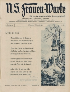N.S. Frauen-Warte : Zeitschrift der N. S. Frauenschaft, 5.Jahrgang, 2. März 1937, H. 20
