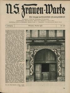 N.S. Frauen-Warte : Zeitschrift der N. S. Frauenschaft, 5.Jahrgang, 3. Mai 1937, H. 25