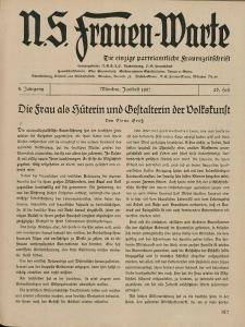 N.S. Frauen-Warte : Zeitschrift der N. S. Frauenschaft, 5.Jahrgang, 1. Juni 1937, H. 26