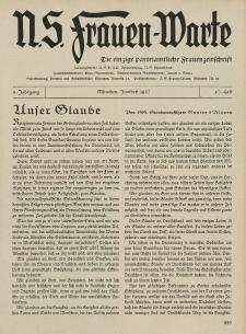 N.S. Frauen-Warte : Zeitschrift der N. S. Frauenschaft, 5.Jahrgang, 2. Juni 1937, H. 27