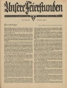 N.S. Frauen-Warte : Zeitschrift der N. S. Frauenschaft (Unsere Feierstunden : Heft 16)