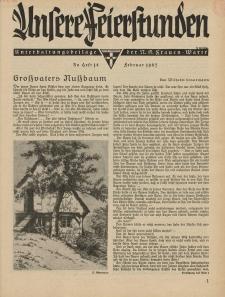 N.S. Frauen-Warte : Zeitschrift der N. S. Frauenschaft (Unsere Feierstunden : Heft 18)