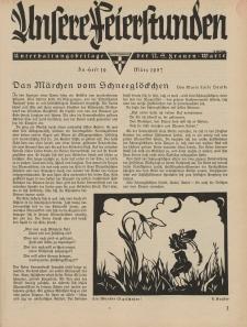 N.S. Frauen-Warte : Zeitschrift der N. S. Frauenschaft (Unsere Feierstunden : Heft 19)