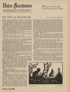 N.S. Frauen-Warte : Zeitschrift der N. S. Frauenschaft (Unsere Feierstunden : Beilage zu Heft 20)