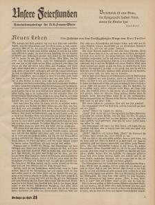 N.S. Frauen-Warte : Zeitschrift der N. S. Frauenschaft (Unsere Feierstunden : Beilage zu Heft 21)
