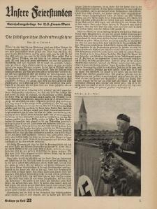 N.S. Frauen-Warte : Zeitschrift der N. S. Frauenschaft (Unsere Feierstunden : Beilage zu Heft 22)