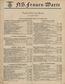 N.S. Frauen-Warte : Zeitschrift der N. S. Frauenschaft (Inhaltsverzeichnis -6. Jg. 1937/38)