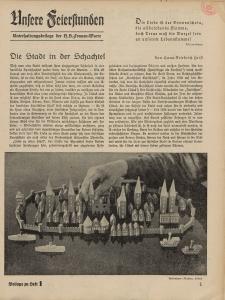 N.S. Frauen-Warte : Zeitschrift der N. S. Frauenschaft (Unsere Feierstunden- Beilage zu Heft 1)